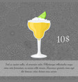 alcoholic yellow cocktail card template vector image vector image