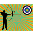 archer shoots at a target vector image vector image