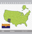 arizona flag and map vector image