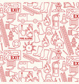 background pattern with firefighters icons vector image