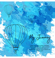 balloon air brush style background vector image