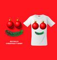 big balls christmas t-shirt design modern print vector image vector image