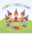 birthday kids party vector image