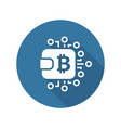 bitcoin wallet icon vector image vector image