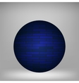 Blue Sphere vector image vector image