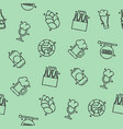 brewing icons set pattern vector image vector image