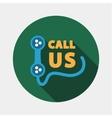 Call us icon vector image
