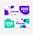 certificate coupon for shop with offer vector image vector image