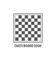 chess board icon simple flat style vector image vector image