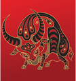 chinese horoscope year ox vector image vector image
