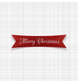 christmas festive tag graphic element vector image