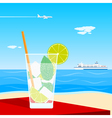 coctail on beach vector image vector image