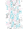 Colorful alphabet letters vertical border seamless vector image