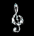 crystal musical symbol vector image vector image