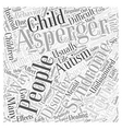 Dealing with Asperger Syndrome Word Cloud Concept vector image vector image