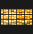 digital design golden gradient icons vector image