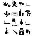 Drugs icons set vector image vector image