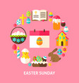 easter sunday card vector image vector image