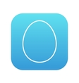 Egg line icon vector image vector image