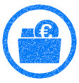 euro wallet rounded icon rubber stamp vector image vector image