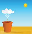 flowerpot vector image vector image