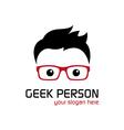 Geek person vector image