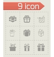gift icons set vector image vector image