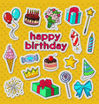happy birthday party decoration doodle vector image vector image