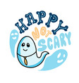 happy not scary lettering vector image
