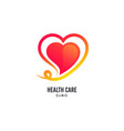 heart logo healthcare icon valentines day vector image