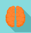 human brain icon flat style vector image