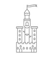 icon medieval castle fairy tale tower vector image vector image