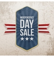 Independence Day Sale festive Poster vector image vector image