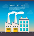 industrial on the roadside cover vector image vector image