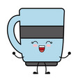 kawaii coffee cup icon vector image vector image