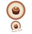label with the chocolates vector image vector image