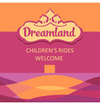 logo and background for childrens rides Abstract vector image