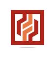 Logo Design Hexagon Zigzag Icon Symbol vector image vector image