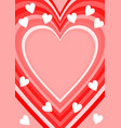 love background with heart shape place for own vector image