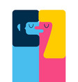 man and woman kiss love abstraction two figures vector image