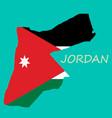 map of jordan vector image vector image