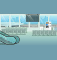 modern hall or airport waiting room cartoon vector image vector image