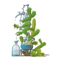 Moonshine from cactus image in cartoon style vector image vector image