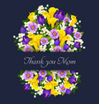 mothers day flowers greeting card vector image
