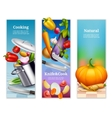 Natural Vegetables Vertical Banners vector image vector image
