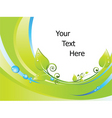 nature border background vector image vector image