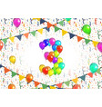 number three made up from bright colorful balloons vector image