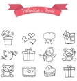 Object valentine day icon with hand draw vector image vector image