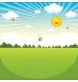 of green landscape vector image
