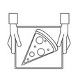 pizza silhouette vector image vector image